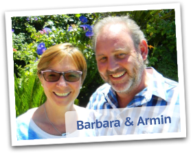 Armin and Barbara, owners and friendly hosts at Somer Place Bed and Breakfast.